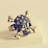 Rock Skull Rhinestone Antique Vintage Rings Jewelry