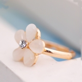 Chic Elegant Resin Fashion Flower Rings