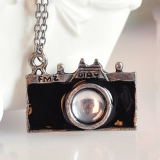 Personalized Vintage Camera Sweater Chain Necklace