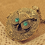 Vintage Round Owl Shape Personalized Ladies' Sweater Chain Necklace