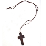 Korea Style Fashion Wooden Cross Pendant Necklace