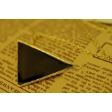 Fashion Long Black Triangle Pendant Necklace Foe Ladies