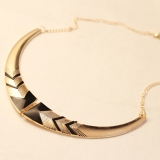 Vintage Exaggerated Short Fluorescence Color Choker Necklace