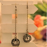 Vintage Crown with Pearl Chic Drop Earrings for Women