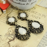 Vintage Teardrop Artifical Stone Ladies' Chic Drop Earrings