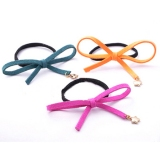 Fashion Bowknot Leather Ponytail Holder