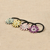 Korea Vintage Daisy Ponytail Holder