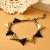 Vintage Personalized Riangle Rivet Toggle Bracelet