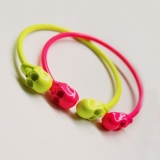 Candy Color Punk Personalized Skull Cuff Bracelet