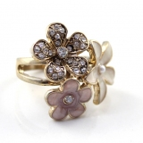 Chic Flower Shape Rhinestone Ring For Women