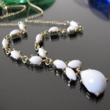 Chic Fashion White Beads Chain Necklace