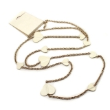 Vintage White Heart Chain Necklace