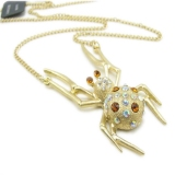 Personalized Golden Spider Pendant China Necklaces