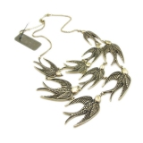 Chic Flying Swallows Bib Necklace