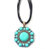 Vintage Multi-layer Green Flower Pendant Necklaces