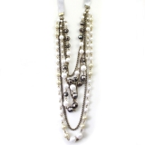 Vintage Pearl Beads Alloy String & Strand Necklace