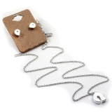 Silver Plated Letter A-M Pendant Necklace