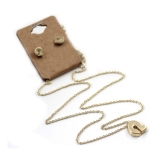 Gold Plated Alloy Letter A-M Pendant Necklace