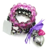 Fashion Heart Shape Beaded Bracelets
