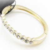 Fashion Simple Golden Rhinestone Bangle Bracelets
