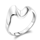 Fashion Simple Silver Band Ring