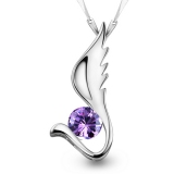 Exquisite Silver Gemstone Pendant Necklace