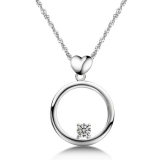 Exquisite Silver Rhinestone Pendant Necklace