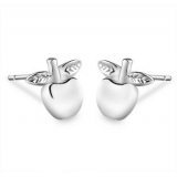 Chic Apple Shape 925 Sterling Silver Stud Earring