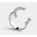 Fashion Chic Silver Zircon Band Ring For Ladies