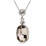 Exquisite 18K GP Collarbone Chain Austrian Crystal Pendant Necklace