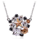 Elegant 18K GP Austrian Crystal Pendant Necklace