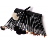 Professional Natural Wool Brush Set With Black PU Case
