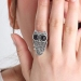 Hot Lovely Owl Vintage Animal Cocktail Ring