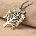 Vintage Bird Christmas Tree Letters Chain Necklace
