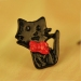 Lovely Black Cat with Pink Bowknot Ladies' Chic Stud Earrings