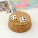Cute Snowflake Simple Stud Earrings Hot sale Ladies' Stud Earrings