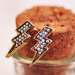 Vintage Lighting Rhinestone Embedded Mini Stud Earring
