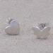 Chic Asymmetric Heart Butterfly Stud Earring