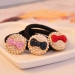 Fashion Bowknot Pattern Rhinestone Embedded Ponytail Holder