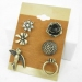 Fashion Substantial Stud Earrings With 6pcs