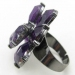 Purple Heart Flower Sexy Adjustable Ring